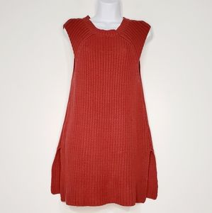 Acrobat knit Burgundy cotton sweater